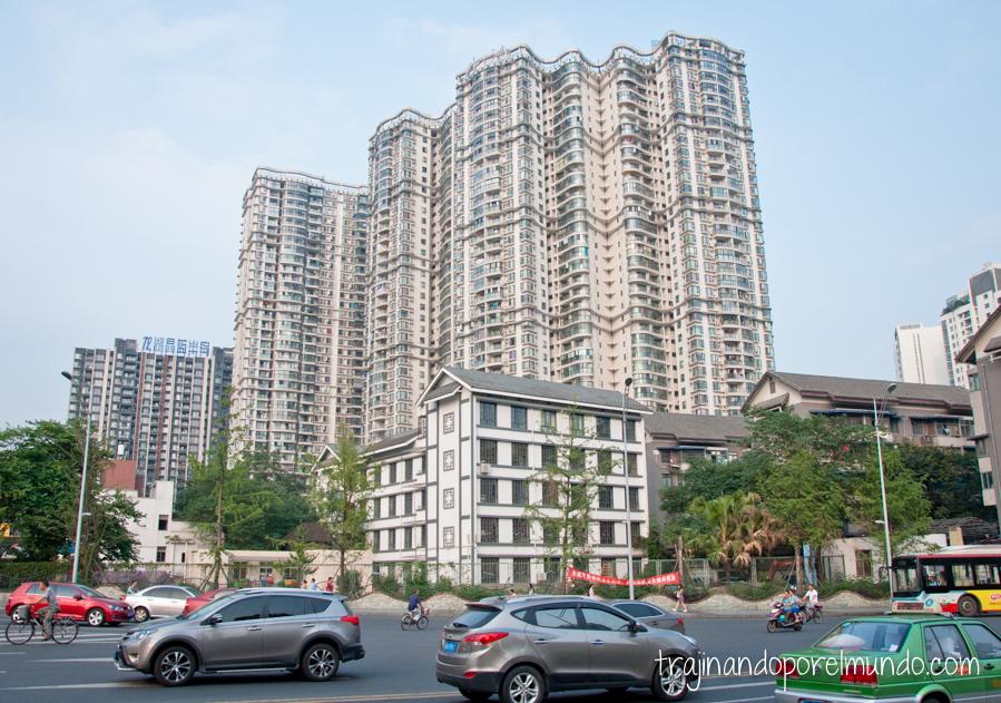 Bloques de apartamentos en China