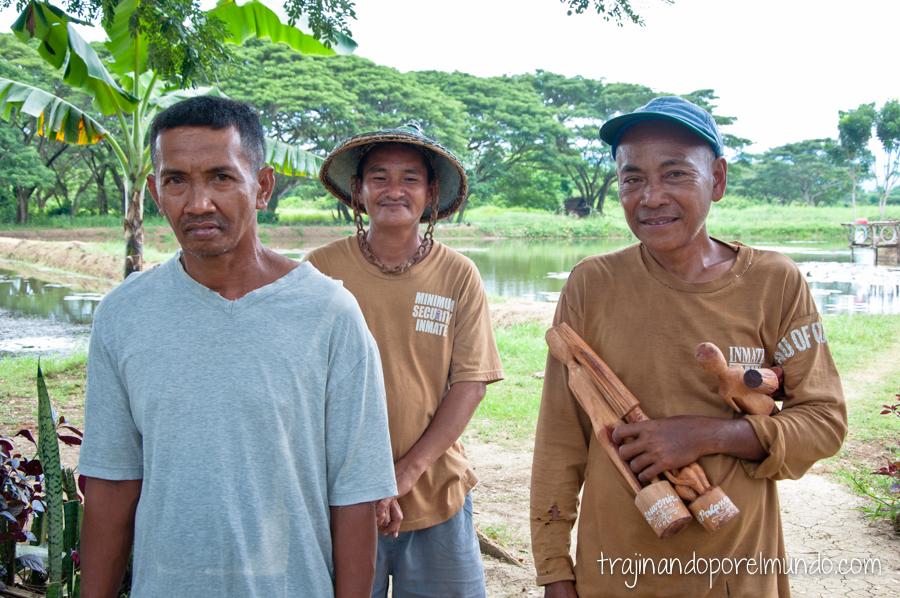 Presos del penal de Iwahig, Palawan, Filipinas