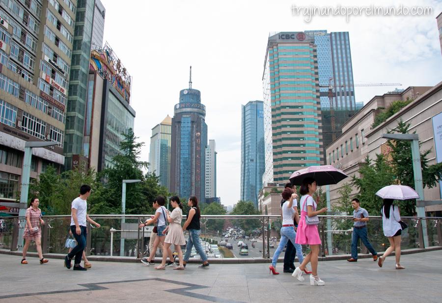 Centro de Chengdu, China