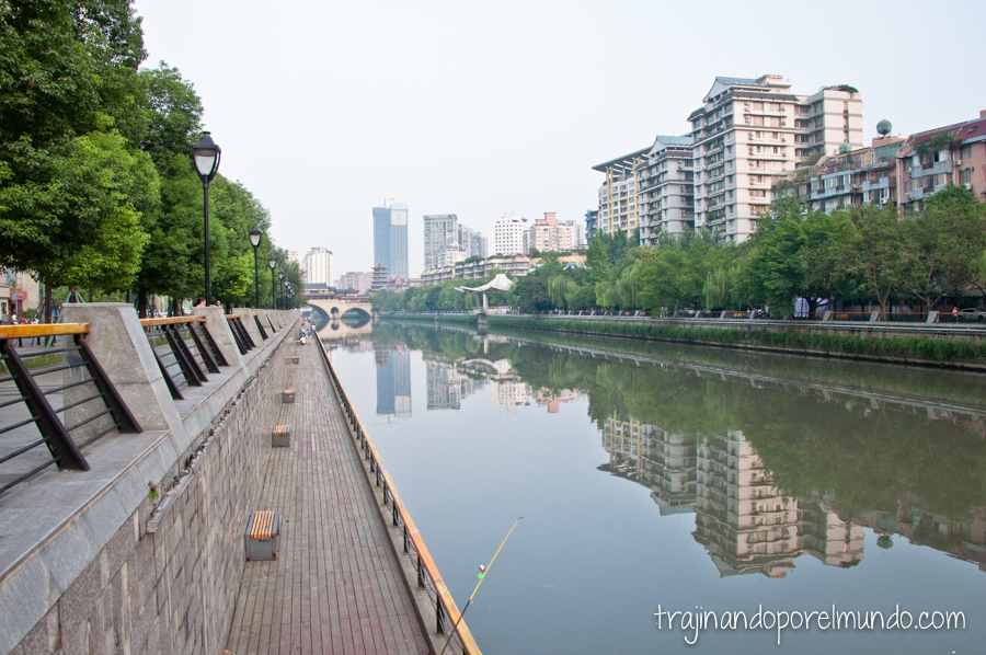 Río Jin en Chengdu, China