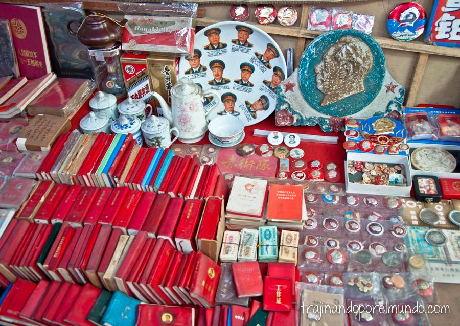 De compras en mercadillo de Chendgu, China
