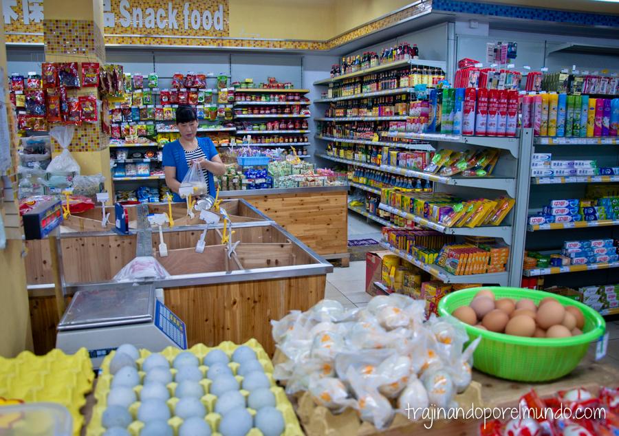 Supermercado en Chengdu, China