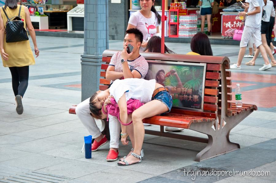 Escenas comunes en Chengdu, China