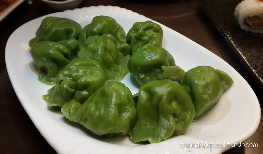 Comida china vegetariana: dumplings de verduras