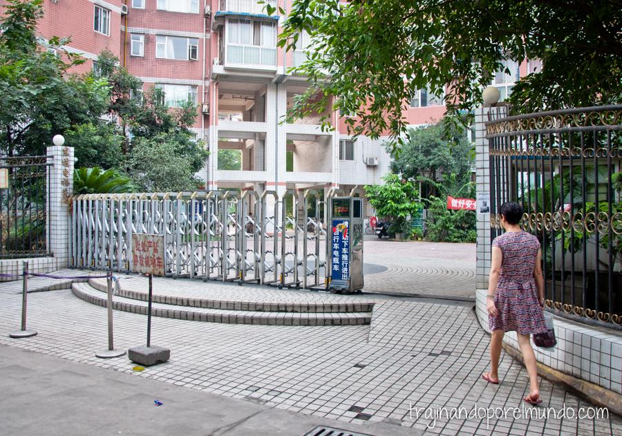 Viviendo en un barrio de Chengdu, China