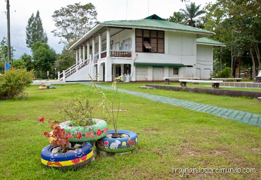 Pueblo en la cárcel de Iwahig, Filipinas