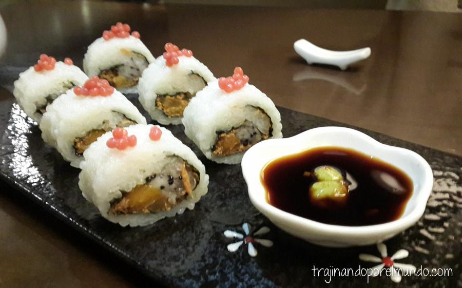 Comida china vegetariana: sushi vegetariano