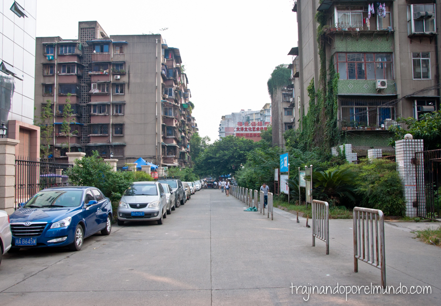 Mi calle en Chengdu, China