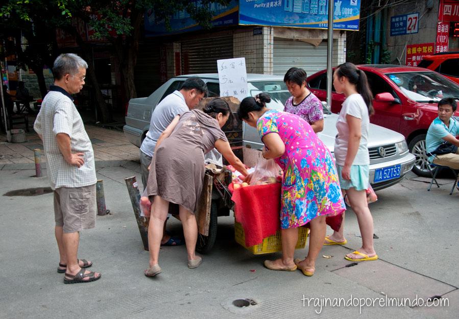 Vida de barrio en Chengdu, China