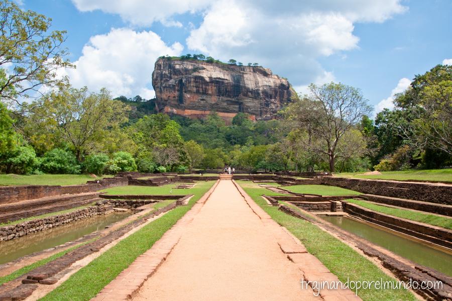 Roca del León de Sigiriya en Sri Lanka