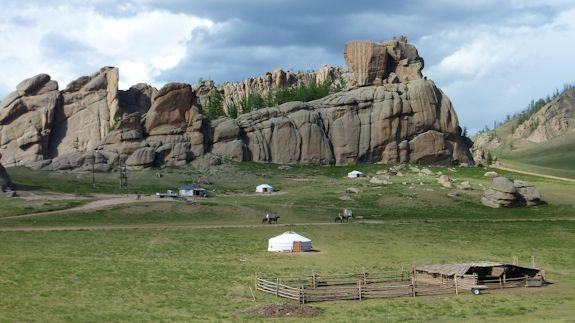 Gers, desierto, Mongolia