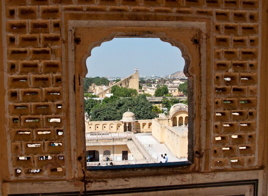 Jantar Mantar desde el Hawa Mahal, Jaipur