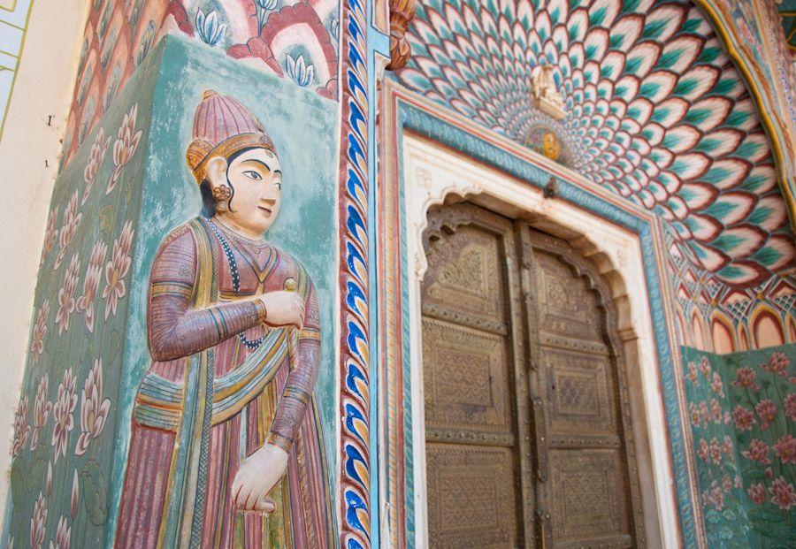 Otra puerta en el Patio de los Amantes, Palacio de Jaipur