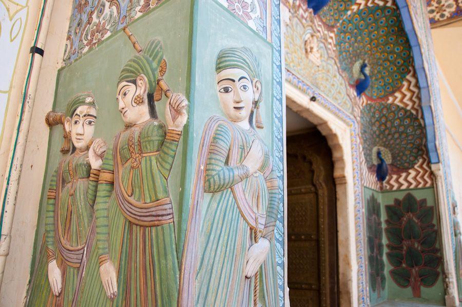 Puerta del Pavo Real, Palacio de Jaipur