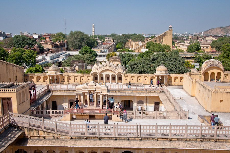 Vistas desde el interior del Hawa Mahal, Jaipur